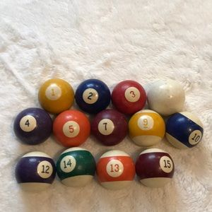 Pool balls decorative accents